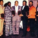 Award from Dootsi Williams – Left to Right Billy Foster, Dexter Tisby, Dootsi Williams, Cleve Duncan, Don Julian, and Bobby Adams